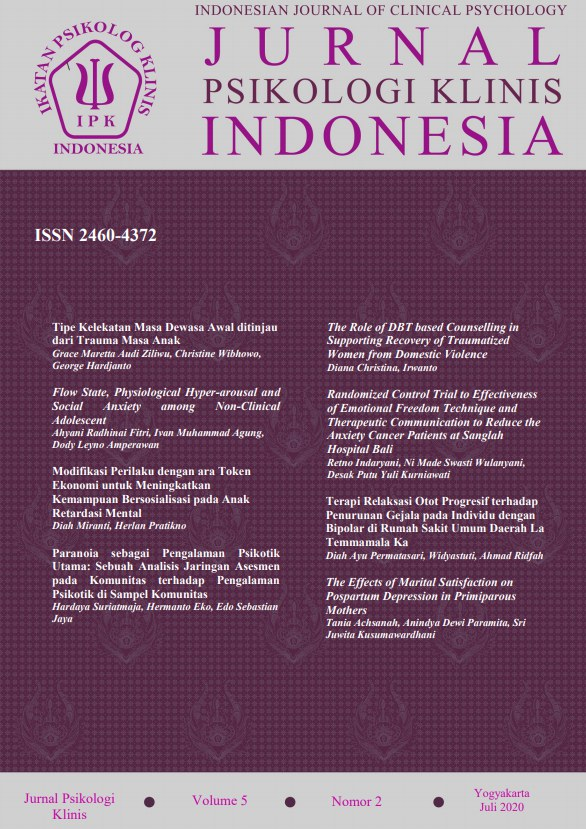 Lihat Vol 5 No 2 (2020): Jurnal Psikologi Klinis Indonesia